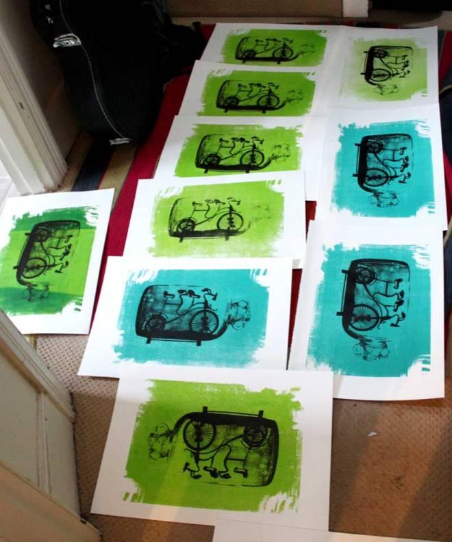 Limited edttion screen-prints by Linda Skoglund