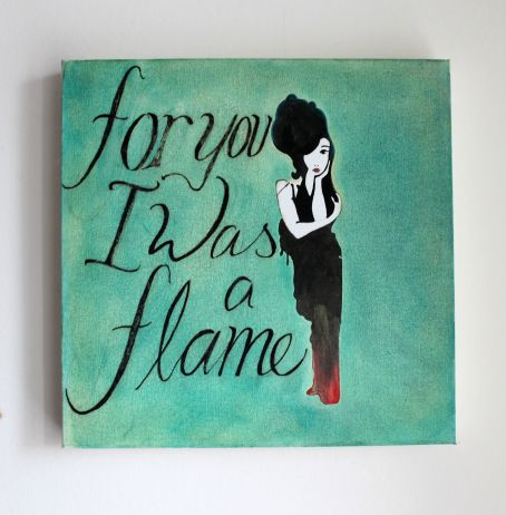 For you I was a Flame, oil on canvas, 2006-7, 30x30 cm deep canvas frame