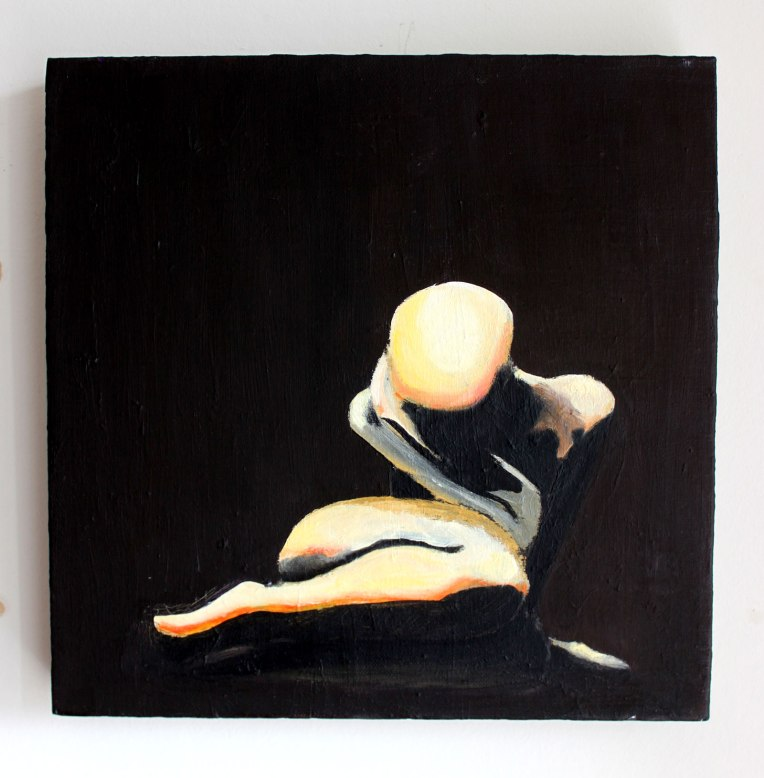 Self-love, 2005, acrylic and oil on canvas, 30x30cm