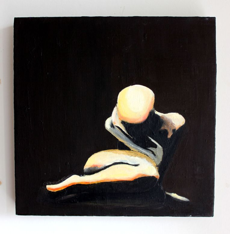 Self-love, 2005, acrylic and oil on canvas, 30x30cm